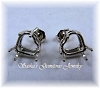 HEART PRE-NOTCHED WIRE BASKET EARRING STUDS - SERIES 003-090